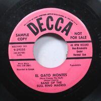 Hear! Latin Exotica Promo 45 Band Of The Bull Ring Madrid - El Gato Montes / La
