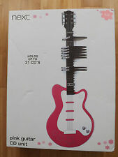 Girls PINK  Guitar CD Unit from next -Holds up to 21 CD'S