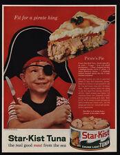 1961 Little Pirate Boy Eats STAR-KIST Tuna - Pirates Pie - VINTAGE AD