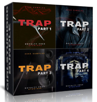 Trap Bundle Packs 1-4 Wav Loops for FL Studio Bitwig Logic Pro Cubase Ableton