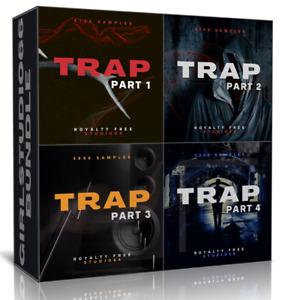 Trap Bundle Packs 1-4 Wav Loops for FL Studio Bitwig Logic Pro Cubase Ableton