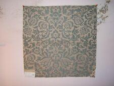 """Highland Court """"Delmora"""" floral brocade fabric remnant, color aqua blue"""