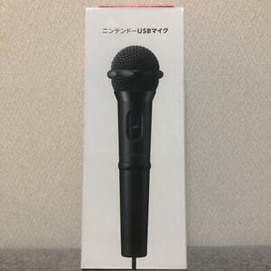 Nintendo genuine Karaoke Music Microphone USB Wired For Switch & wiiu Game Black