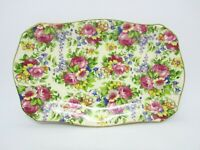 "Vintage Maple Ware Japan ROSE CHINZ Trinket Tray, 8"" x 5"""