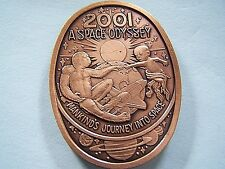 Endymion 2001 A Space Odyssey Antique Bronze Oval Mardi Gras Doubloon in Case