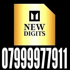 GOLD EASY TO REMEMBER UK MEMORABLE UNIQUE MOBILE PHONE NUMBER SIM CARD 911 VIP