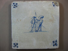 Antique Dutch Delft tile children's games human rare 17th- free shipping