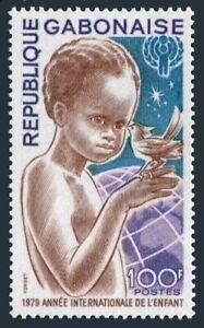 Gabon 431,MNH.Michel 706. Year of Child IYC-1979.Child with bird,Globe
