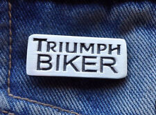 TRIUMPH BIKER  Lapel Pin Badge