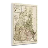 HISTORIX Vintage 1796 State of New Hampshire Map Poster