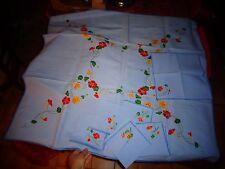 Petite Nappe Chemin de Table 6 Napperons Serviette Brodés Au Fleurs de Liseron