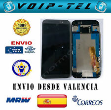 PANTALLA  CON MARCO COMPLETA LCD DISPLAY CON TACTIL HTC ONE M9 NEGRO GRIS OSCURO
