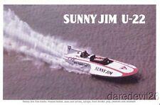 1970's Sunny Jim U-22 Hydroplane APBA thin stock postcard