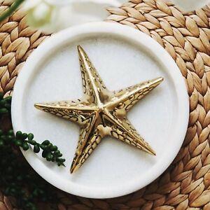 Starfish Embellished Brass Sealife Decor 16cm(D) Hamptons Coastal Home Decor ©