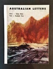 Australian Letters - Vol 5 No 2 - pb 1962 - Sidney Nolan & Randolph Stow