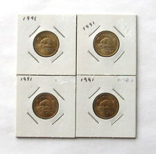 Lot of (4) Canada 1991 Nickel 5 Five Cents MS62 or Better