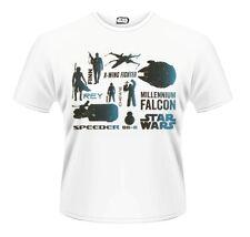 Star Wars The Force Awakens R2d2 Chopped, T-Shirt Homme, Blanc (White), XLPlastic Head