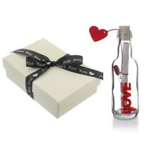 First 1st Paper Wedding Anniversary Gifts PERSONALISED Message in a Bottle Gift