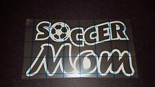 Soccer Mom sports decal Vinyl car truck minivan van window decal sticker