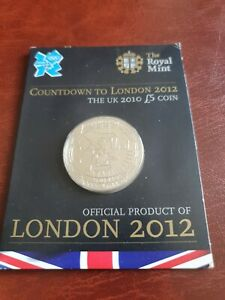 2010 Countdown To London 2012 Olympics, £5 Sealed Royal Mint Carded Coin