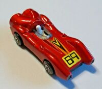 Vintage Matchbox Rolamatics No. 69 Turbo Fury Red w/ Driver England Lesney