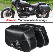 Motorcycle Saddlebags Luggage Tool Pouch Leather For Harley Sportster XL883 1200