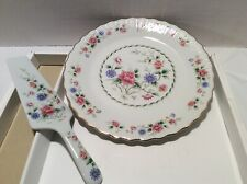 """New ListingNew 50's Andrea by Sadek """"Spring Night"""" #7410 Cake Plate and Server Discontinued"""
