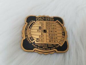 VINTAGE 1962-1989 WHEEL CALENDAR Salvation Army Social Service Department Dallas