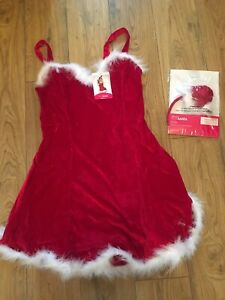 Rrp £30 Ann Summers 2 Piece Sexy Santa Outfit Size 12 , Outfit & Hat Headband