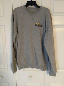 Carhartt Sweatshirt Men's Large Long Sleeve Crewneck Gray Logo Workwear
