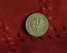 Poland 2 Grosze 1998 Brass World Coin Y277 Polska Eagle with Wings Polish Europe