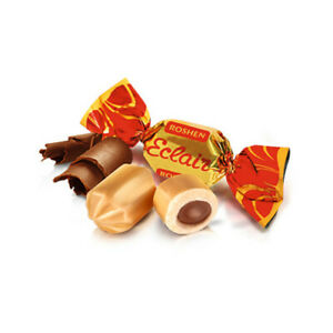 """Ukrainian Sweets ROSHEN Chewy Candy """"Eclair"""" Soft Caramel & Chocolate 200g 7oz"""