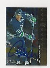 94/95 SP Autographed Hockey Card Pat Verbeek Hartford Whalers