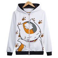 Anime Natsume Yuujinchou Madara Otaku Cosplay Hooded Coat ZIPPER Jacket #Bo12