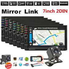 "7"" 2DIN Touch pantalla coche Radio estéreo Reproductor Doble MP5 Bluetooth + Cámara Fm Aux"
