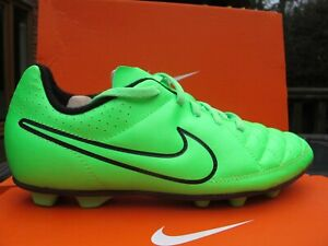 ASSORTED NIKE TIEMPO RIO FG -R JNR Football Boots moulded firm  3 & 5 UK LIME