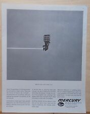 1962 magazine ad for Mercury Outboard boat engines - Has a New Small Voice