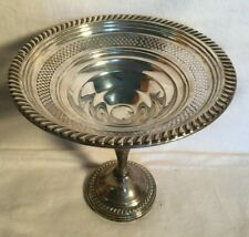 "6.5"" EMPIRE 203 Sterling Silver weighted Compote Pierced CANDY Dish Bowl 233g"