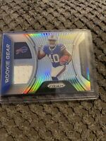 DEVIN SINGLETARY RC 2019 Panini PRIZM ROOKIE GEAR JERSEY Card RG-DE BILLS🔥🏈