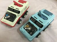 2x Ufo Emergency Squad 6wd Friction Vehicle / Star Explorer - Vintage Space Toys