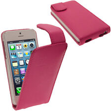Pink Leather Flip Case for New Apple iPhone 5 5S 5C SE Mobile Phone 4G Cover