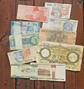 Good Lot of World Used Bancnotes. Albania, Italy, Greece, Costa Rica, Brasil etc