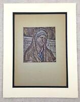1929 Antique Print Byzantine Mosaic Santa Pudenziana Rome Italy Italian Art