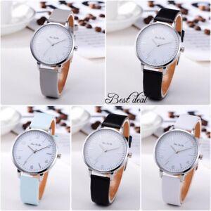 Ladies Womens Watches Casual Quartz Analogue Wrist Watch Fashion Faux Leather UK