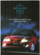 Renault Megane Coupe 1.6e Fidji Limited Edition 1997 UK Market Sales Brochure
