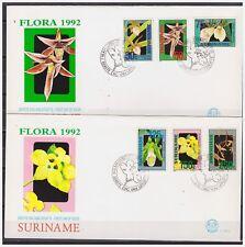 Surinam / Suriname 1992 FDC 152ab Orchidee orchids