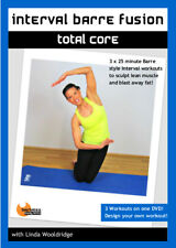 INTERVAL BARRE FUSION TOTAL CORE 3 WORKOUTS DVD LINDA WOOLDRIDGE NEW SEALED