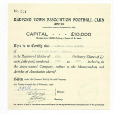 BEDFORD TOWN ASSOCIATION FOOTBALL CLUB LIMITED - Original 1951 Share Certificate