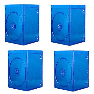 CD DVD Storage Case One Disc Empty Holder 7mm Slim Soft Plastic Bluray Logo Blue