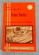 "Vintage 1969 Craftsman Handbook ""How to do More with Your Power Router 9 2948"